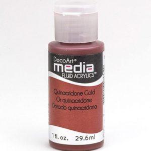 Mixed Media Acrylics Quinacridone Gold