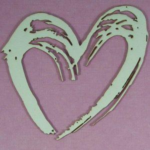 Chipboard Valentijn Hart stijl 4 (groot)