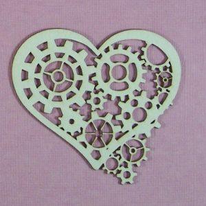 Chipboard Valentijn Hart stijl 3 (klein)