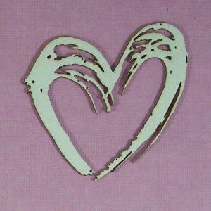 Chipboard Valentijn Hart stijl 4 (klein)