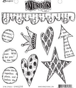 DYL CLING STAMPS - STAR STRUCK