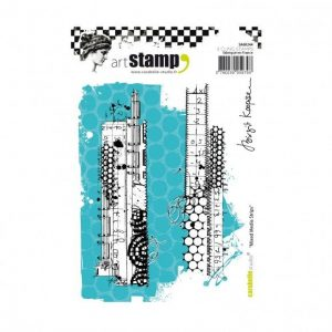 Carabelle cling stamp A6 mixed media strips Birgit Koopsen