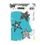 Carabelle cling stamp A6 scribbled stars by Birgit Koopsen