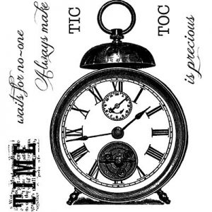 Woodware Clear Stamp Tic Toc