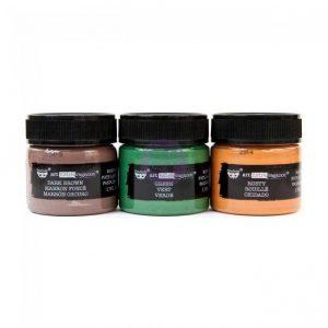 Finnabair Art Extravagance Rust Effect Paste 50ml Jars 3/Pkg Metal Rust