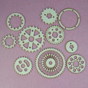 Chipboard set Gears stijl 3 klein