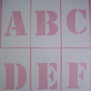 Losse Alfabet Stencils Stijl 1