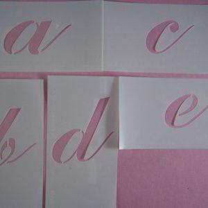 Losse alfabet stencils stijl 3