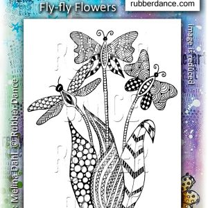 Rubber Dance Stamp Fly Fly Flowers