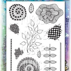 Rubber Dance Stamp Crazy Flowers #2