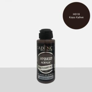 Cadence Hybrid metallic acrylic paint (semi matt) Koyu Kahve 0018 120 ml