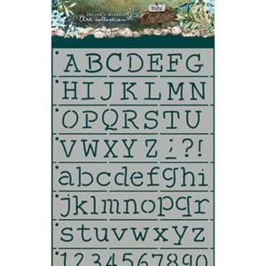 JMA-NA-MASK06 - JMA Mask Alphabet playful typewriter New Awakening nr.06