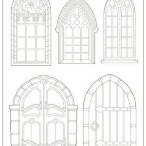 Soft Mould A4 - Sleeping Beauty doors and windows