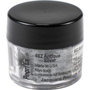 Jacquard Pearl Ex Powdered Pigment 3g Antique Silver