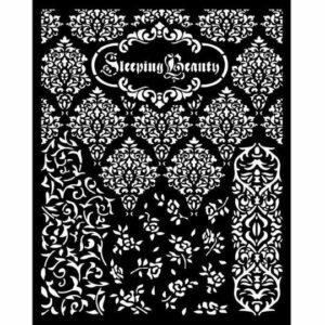 KSTD079 Thick Stencil 20x25 Sleeping Beauty Textures