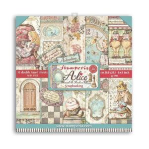 """SBBS42 Paper Pad (8""""x8"""") Alice Through the Looking Glass"""