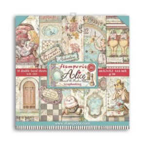 """SBBXS02 Paper Pad (6""""x6"""") Alice Through the Looking Glass"""