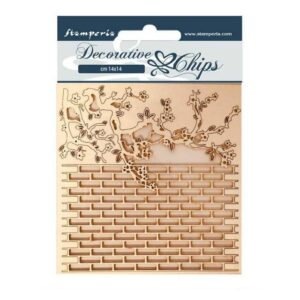 Stamperia Decorative Chips Alice Wall (SCB78)