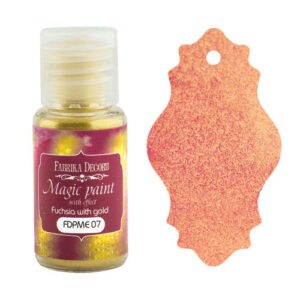 DRY PAINT MAGIC PAINT WITH EFFECT FUCHSIA WITH GOLD 15ML
