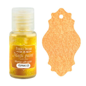 DRY PAINT MAGIC PAINT WITH EFFECT MANGO WITH GOLD 15ML