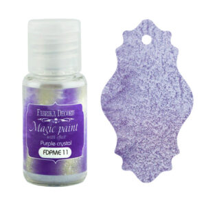 DRY PAINT MAGIC PAINT WITH EFFECT PURPLE CRYSTAL 15ML