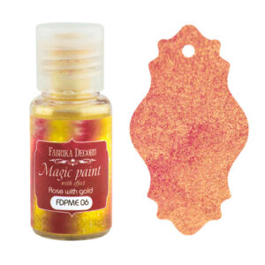 DRY PAINT MAGIC PAINT WITH EFFECT ROSE WITH GOLD 15ML