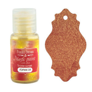 DRY PAINT MAGIC PAINT WITH EFFECT SCARLET SUNSET 15ML