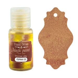 DRY PAINT MAGIC PAINT WITH EFFECT SHIMMER RUBY 15ML