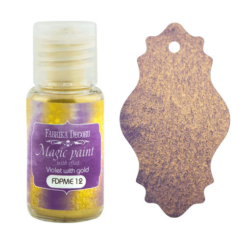 DRY PAINT MAGIC PAINT WITH EFFECT VIOLET WITH GOLD 15ML